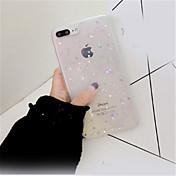 Etui Til Apple iPhone X iPhone 7 Plus Mønster Bakdeksel Glimtende Glitter Myk TPU til iPhone X iPhone 8 Plus iPhone 8 iPhone 7 Plus
