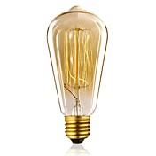 1pc 40W E27 E26/E27 ST64 Blanco Cálido 2300 K Bombilla incandescente Vintage Edison 110-130V 220-240V V