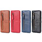 Funda Para Samsung Galaxy S8 Plus S8 Soporte de Coche Cartera con Soporte Flip Funda de Cuerpo Entero Color sólido Dura Cuero de PU para