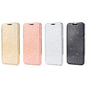 Funda Para Samsung Galaxy S8 S7 Soporte de Coche Flip Funda de Cuerpo Entero Color sólido Brillante Dura Cuero de PU para S8 Plus S8 S7