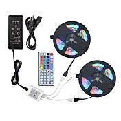 ZDM® 2x5M RGB-lysstriper 600 LED 1 44Kjør fjernkontrollen / 1 vekselstrømkabel / 1 x 12V 3A adapter RGB Kuttbar / Dekorativ / Selvklebende 12 V 1set