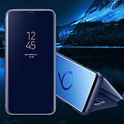 Etui Til Samsung Galaxy S8 Plus S8 med stativ Speil Flipp Auto Sove/Våkne Heldekkende etui Helfarge Hard PU Leather til S8 Plus S8 S7