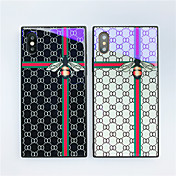 Etui Til Apple iPhone X iPhone 8 Støtsikker Mønster Bakdeksel Flise Geometrisk mønster Dyr Hard Herdet glass til iPhone X iPhone 8 Plus