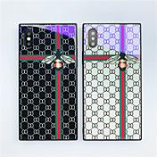 Etui Til Apple iPhone X / iPhone 8 Mønster Bakdeksel Flise / Geometrisk mønster / Dyr Hard Herdet glass til iPhone X / iPhone 8 Plus / iPhone 8