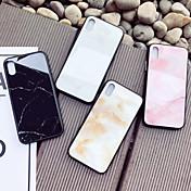 Etui Til Apple iPhone X iPhone 8 Støtsikker Mønster Bakdeksel Marmor Hard Herdet glass til iPhone X iPhone 8 Plus iPhone 8 iPhone 7 Plus