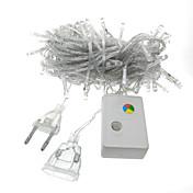 10 m Lysslynger 100 LED Dip Led Varm hvit / Kjølig hvit / Blå Dekorativ / Koblingsbar 220-240 V 1pc / IP44