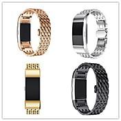 Ver Banda para Fitbit Charge 2 Fitbit Hebilla de la mariposa Metal Acero Inoxidable Correa de Muñeca