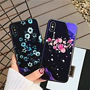 Etui Til Apple iPhone X iPhone 8 Støtsikker Mønster Bakdeksel Hjerte Blomsternål i krystall Hard Herdet glass til iPhone X iPhone 8 Plus