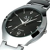 ASJ Hombre Reloj de Pulsera / Reloj de Vestir Chino Calendario Aleación Banda Lujo Negro / Blanco