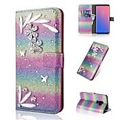 Etui Til Samsung Galaxy S9 S9 Plus Kortholder Lommebok Rhinstein Flipp Glitter Heldekkende etui Fargegradering Hard PU Leather til S9