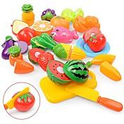 Liksomspill Mat / Frukt Foreldre-barninteraksjon Plastskall Barnehage Gave 18 pcs