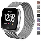 Klokkerem til Fitbit Versa Apple Sportsrem / Milanesisk rem Metall Håndleddsrem