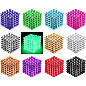 216/512 pcs 3mm / 5mm Magnetiske leker Magnetiske kuler / Byggeklosser / Puzzle Cube Magnet / Neodym-magnet Kreativ / Magnetisk / intelligent Gave