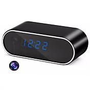 hqcam h.264 wifi reloj de mesa mini cámara ip 720p hd ip p2p dvr videocámara alarma conjunto de visión nocturna monitor remoto micro cámara 1 mp