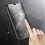 Funda Para Samsung Galaxy J8 / J6 con Soporte / Cromado / Espejo Funda de Cuerpo Entero Un Color Dura Cuero de PU para J8 / J7 Duo / J6