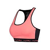 Espalda Cruzada / Espalda Abierta Sujetadores de Deporte Acolchado Sujeción Ligera Para Yoga / Running Secado rápido, Transpirable Mujer Poliéster, Licra