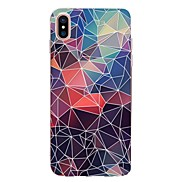 For Case Cover Transparent Pattern Back Cover Case Geometric Pattern Soft TPU for Apple iPhone X iPhone 8 Plus iPhone 8 iPhone 7 Plus