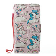For Case Cover Card Holder Wallet with Stand Flip Magnetic Pattern Full Body Case Unicorn Hard PU Leather for Apple iPhone X iPhone 8