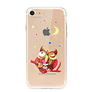 For Case Cover Ultra-thin Transparent Pattern Back Cover Case Owl Soft TPU for Apple iPhone X iPhone 8 Plus iPhone 8 iPhone 7 Plus iPhone