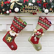 1pc Christmas Decorations Christmas StockingsForHoliday Decorations 23*45*27cm
