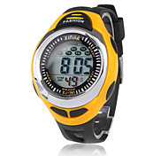 Hombre Reloj Deportivo LCD Calendario Cronógrafo Resistente al Agua alarma Digital Silicona Banda Negro