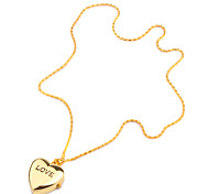 Heart Pattern Gold Stainless Steel Necklace Watch Cool Watches Unique Watches Fashion Watch