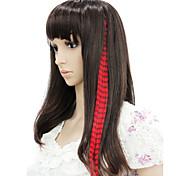 Недорогие -16 дюймы Длинные Наращивание волос Прямой Классика Повседневные Высокое качество Накладки из натуральных волос