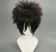 Parrucche Cosplay Naruto Sasuke Uchiha Nero Corto Anime Parrucche Cosplay 30 CM Tessuno resistente a calore Uomo