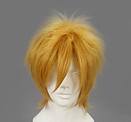 Cosplay Wigs Naruto Minato Namikaze Golden Short Anime Cosplay Wigs 32 CM Heat Resistant Fiber Male