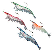 cheap -Soft Bait Shrimp with Hook 60MM 4.5G Silicon Fishing Lure Packs (4 pcs)