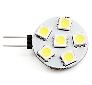 cheap -2W 2700 lm G4 LED Spotlight 6 leds SMD 5050 Natural White DC 12V