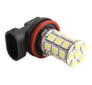 H11 5050 SMD 27-LED 1.44W 1300MA White Light Bulb for Car (DC 12V)