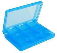28-in-1 i casi di archiviazione delle carte di gioco per NDSi, ds lite e 3ds (blu)
