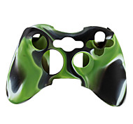 cheap -Protective Dual-Color Silicone Case for Xbox 360 Controller (Green and Black)