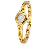 Недорогие -Женские Модные часы Часы-браслет Кварцевый сплав Группа Элегантные часы Золотистый