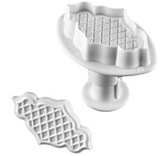 Cloud Shape Cake and Cookie Cutter Mold with Plunger (2 Pieces)