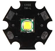 diy cree 10w 1000lm luce 7000k led bianchi emettitore con base in alluminio (3.2-3.6v)