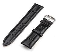 Unisex Genuine Leather Watch Strap 20MM (Black) Cool Watch Unique Watch Fashion Watch