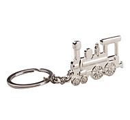 cheap -Metal Silver Train Keychain