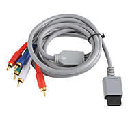 Cobre Revestimiento Componente Audio y Video Cable AV para Wii - Grey (2,0 M)