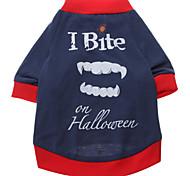 Cane T-shirt Abbigliamento per cani Traspirante Lettere & Numeri Blu Costume Per animali domestici