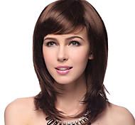 Недорогие -синтетические волосы парики прямая естественная волосяная линия слоистая стрижка с челки без крышки парик знаменитости парик Хэллоуин парик карнавал