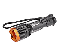 KC-01 LED Flashlights / Torch LED 800 lm 5 Mode Cree XM-L T6 Zoomable Adjustable Focus Rechargeable Waterproof Super Light Compact Size