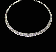 cheap -Women's Crystal Rhinestone Choker Necklace - Necklace For Party