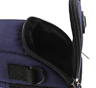 Ripstop Polyester Padded Soft Protective Carrying Bag Case with Hooks for Slim Card Digital Camera - Blue
