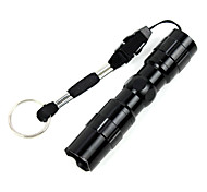cheap -LED Flashlights / Torch LED lm 1 Mode LED Waterproof Small Size Camping/Hiking/Caving Black
