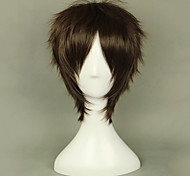 Cosplay Wigs Attack on Titan Eren Jager Brown Short Anime Cosplay Wigs 35 CM Heat Resistant Fiber Male