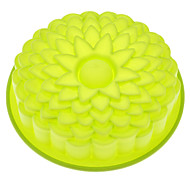 Sunflower Shaped Silicone Cake Mould Random Color