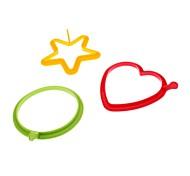 DIY Кулинария Сердце Звезда круглые силиконовые кольца Яйцо