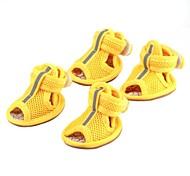 abordables -Gato Perro Zapatos y Botas Amarillo Rojo Azul Para mascotas